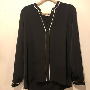 Calvin Klein Women's Black Blouse Size XL